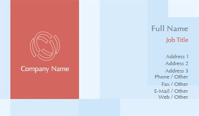 Orange and White Logo Business Card Template
